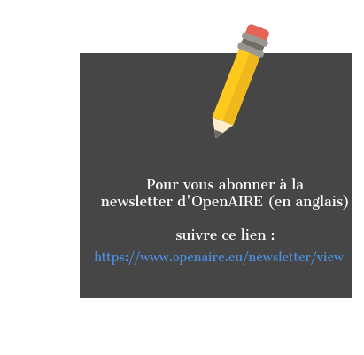 Newsletter OpenAIRE crayon bas